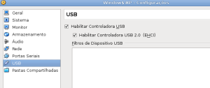 VirtualBox: habilitar interface USB